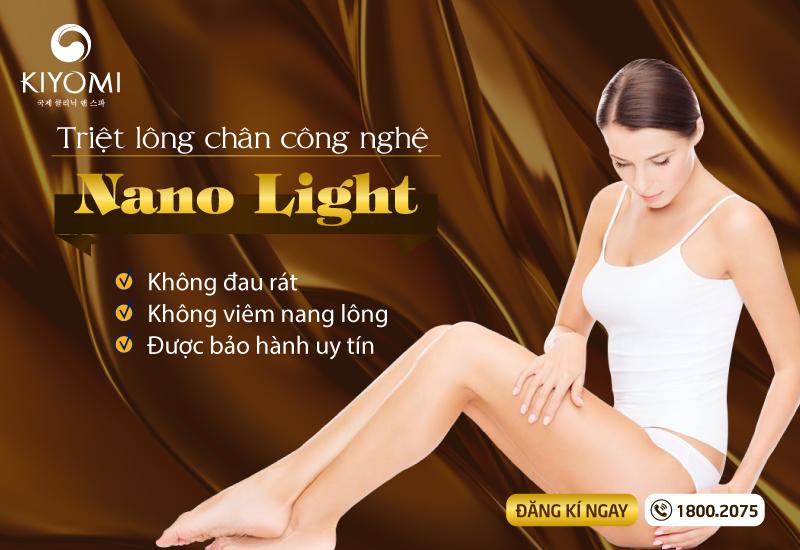 Triệt lông chân công nghệ Nano Light